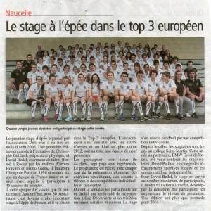 Stage épée en France