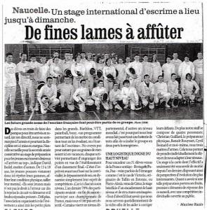Stage escrime Aveyron